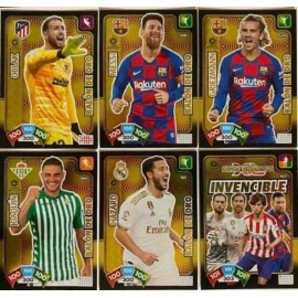 Lote de 5 Balones de ORO + la Card Invencible - Adrenalyn XL 2019-2020