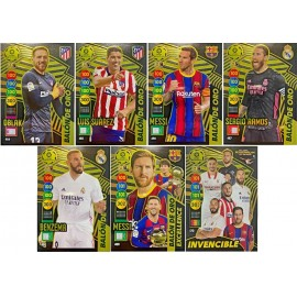 Lote de 6 Balones de ORO + la Card Invencible - Adrenalyn XL 2020-2021